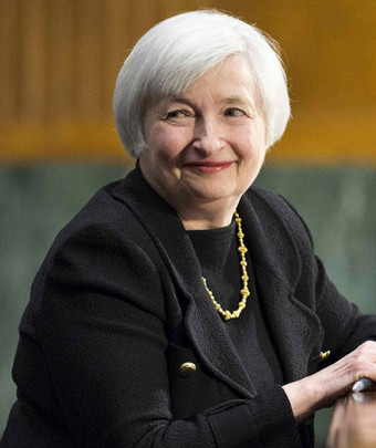 U.S. Federal Reserve Vice Chair Yellen testifies during a Senate Banking Committee confirmation hearing in Washington