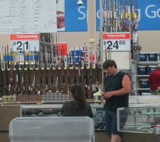 Wal Mart gun shop